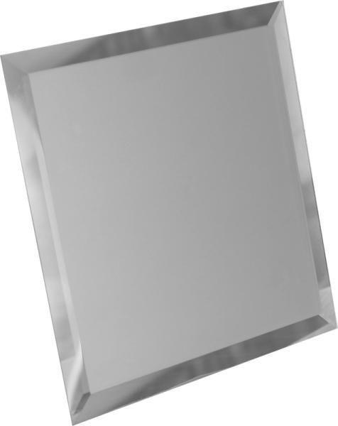 Зеркальная серебряная матовая плитка с фацетом квадратная