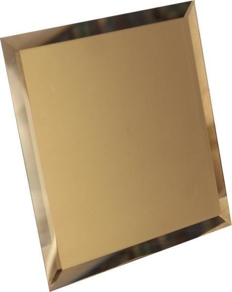 Зеркальная бронзовая плитка с фацетом квадратная
