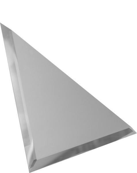 Зеркальная серебряная плитка с фацетом треугольная
