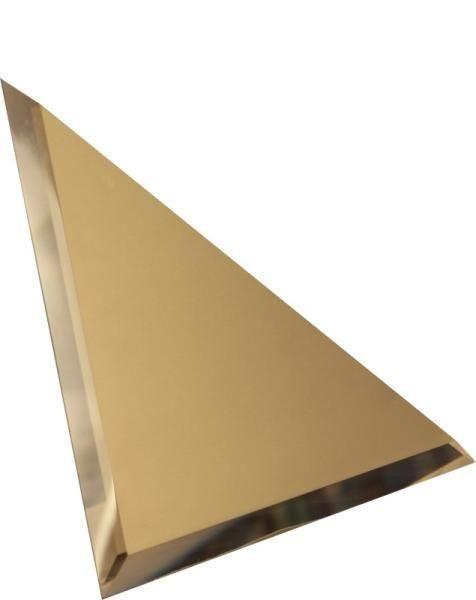 Зеркальная бронзовая плитка с фацетом треугольная