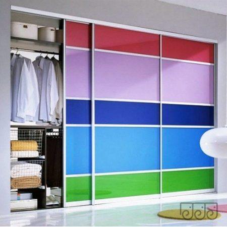 Перегородка цветное стекло