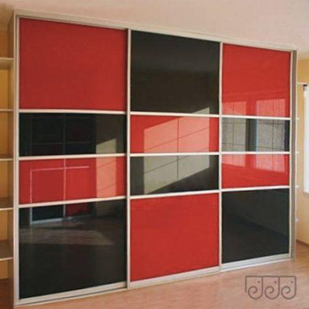 Шкаф-купе цветное стекло