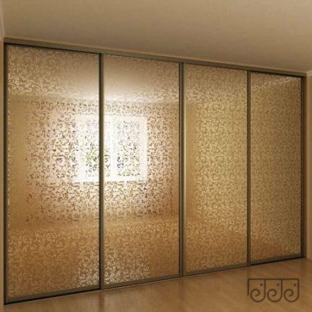 Шкаф с пескоструйным рисунком бронза