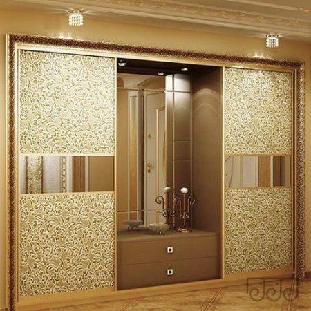 Двери-купе экокожа и зеркало