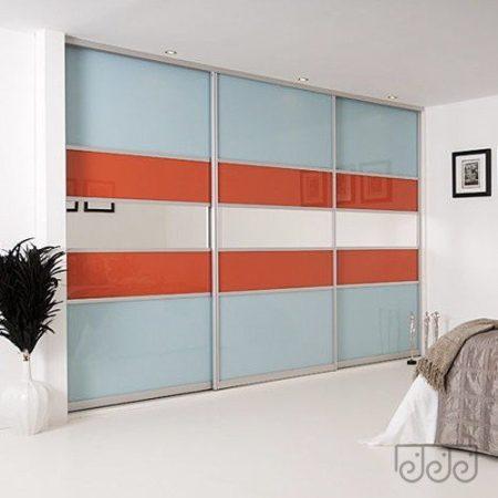 Двери купе комбинированные цветное стекло