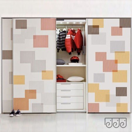 Двери купе для шкафа фотопечать на стекле